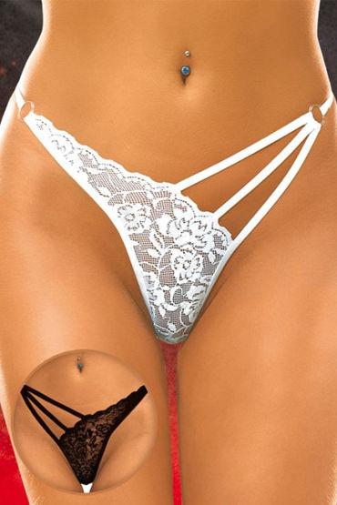 Soft Line трусики, черные С цветочным кружевом с kanikule эрекционное кольцо