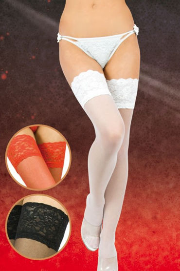 Soft Line чулки, белые C широкой резинкой мужские костюмы для ролевых игр размер l