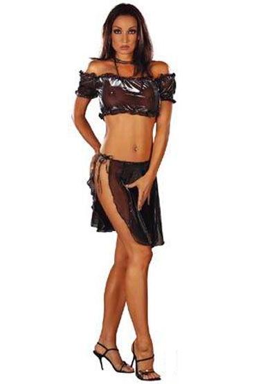 Roxana Gypsy, комплект, черный Прозрачный, юбка на завязках roxana mouse фантазийные мужские трусы