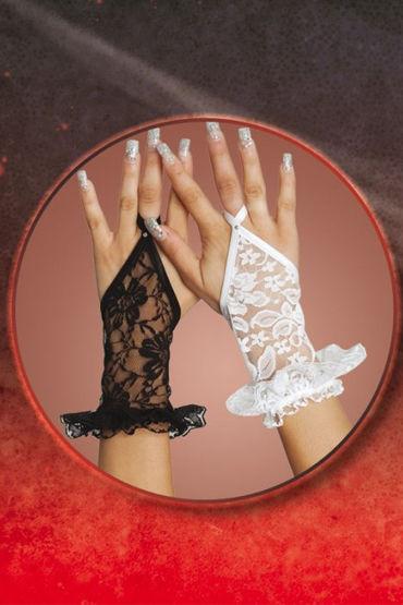 Soft Line перчатки, белые Кружевные, короткие california exotic tantric binding love corset with wrist cuffs пояс с отверстиями для фиксации рук
