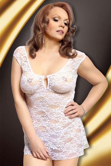 Soft Line комплект, белый Стринги и сорочка с цветочным кружевом bswish bcurious белый