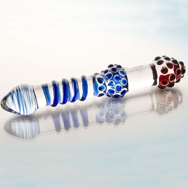 Sexus Glass фаллоимитатор Стильный, выполнен из стекла hearts красный маска на глаза