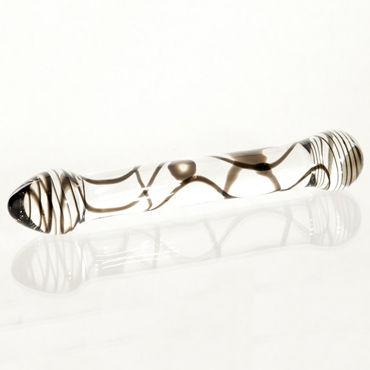Sexus Glass фаллоимитатор Стильный, выполнен из стекла erasexa фаллоимитатор с черепом в основании