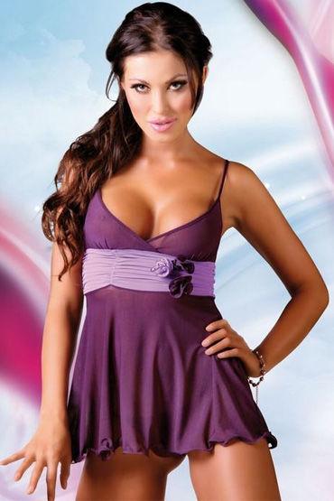 Soft Line комплект, фиолетовый Комбинация с красивым пояском и стринги leg avenue платье экстравагантный клубный наряд