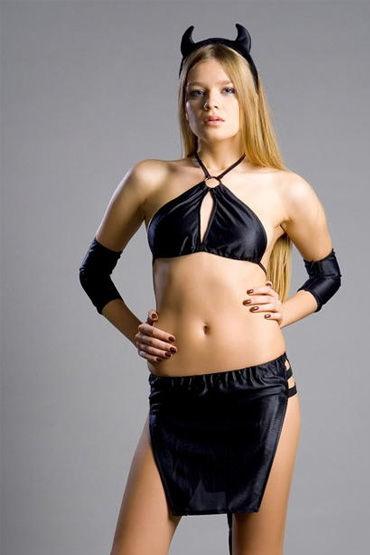 Flirt On Black Demonia Секси наряд дьяволенка костюмы и одежда для ролевых игр flirt on