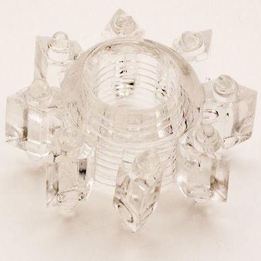 Toyfa кольцо, прозрачное Эрекционное, в виде снежинки doc johnson raging hard ons 8 5 см анальная пробка c ограничителем