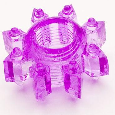 Toyfa кольцо, фиолетовое Эрекционное, в виде снежинки гибкий вибростимулятор coco violet фиолетовый