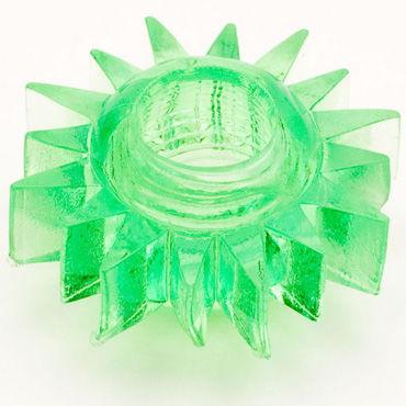 Toyfa кольцо, зеленое Гелевое, эрекционное sitabella хлопалка ладонь красный с жесткой рукояткой