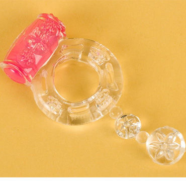 Toyfa кольцо, прозрачное С вибрацией р coquette violet flowers