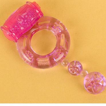 Toyfa кольцо, фиолетовое С вибрацией кольца на пенис диаметр 3 4 см