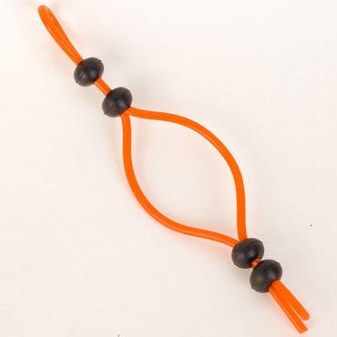 Toyfa лассо, оранжевое Четыре бусины toyfa лассо черное