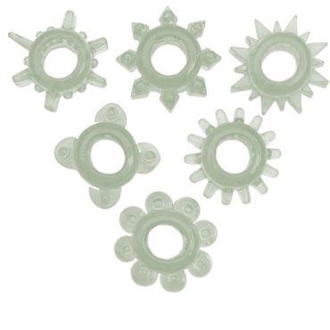 Toyfa набор, прозрачный Эрекционных колец doc johnson vac u lock knuckle up кастет со штырьком для насадок