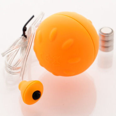 Sexus Funny Five виброяйцо, оранжевое Для вагинальной и анальной стимуляции виброяйцо ovo r6 remote на дистанционном управлении белое
