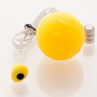 Sexus Funny Five виброяйцо, желтое Для вагинальной и анальной стимуляции sexus funny five шарики оранжевые для стимуляции вагинальных мышц