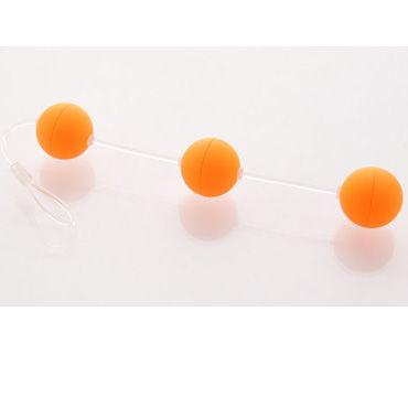 Sexus Funny Five шарики, оранжевые Для стимуляции анальных мышц