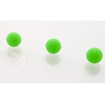 Sexus Funny Five шарики, зеленые Для стимуляции анальных мышц чулки сетка и пояс soft line красные l