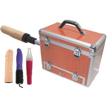 MyWorld Wiggler, секс-чемодан На замочках, с насадкой для фаллоса анальная пробка в виде сердца стальная черная с малиновой вставкой s в коробочке