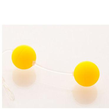 Sexus шарики вагинальные 11 см, желтые Без вибрации, гладкие qvibry memo красный яр