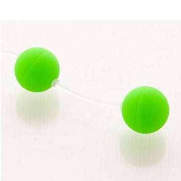 Sexus шарики вагинальные 11 см, зеленые Без вибрации, гладкие интимная игрушка nota party novely hp140038