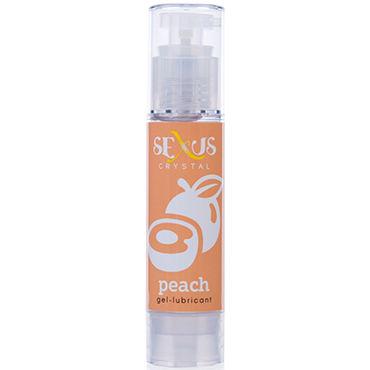 Sexus Crystal Peach, 60 мл Увлажняющая гель-смазка, с ароматом персика toyz4lovers bestseller silver magic balls вагинальные шарики с блестками