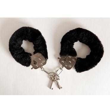 Toyfa наручники, 6см, черные Покрыты мягким материалом, с изящными ключиками pipedream lock up зебра наручники с искусственным мехом
