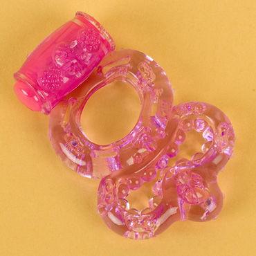 Toyfa виброкольцо, фиолетовое С вибропулькой, с дополнительным кольцом для мошонки комплект avanua effi белый s m