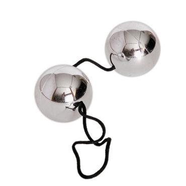 Toyfa шарики вагинальные, серебристые Со смещенным центром тяжести, имитация металла joydivision joyballs anal wave 30 см фиолетовый анальный стимулятор