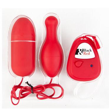 Toyfa набор виброяиц, красный Яйцевидной и грушевидной формы, с пультом ДУ б ду frivole платье с вырезами