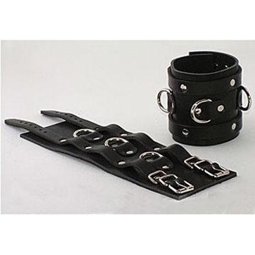 Beastly наручники, черные Широкие, с ремешками и кольцами для пристегивания durex long play купить киев