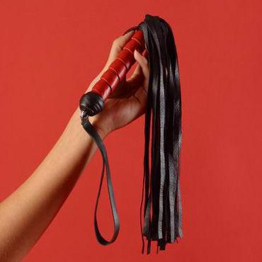 Podium флогер Витая ручка, хвост из 30 полос а плетки и шлепалки материал сатин