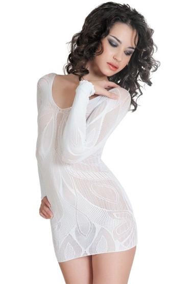 Erolanta платье, белое C изящным орнаментом erolanta платье красное очаровательное с обнаженной спиной