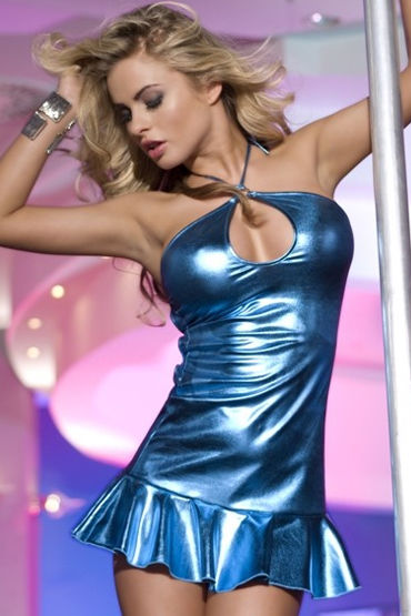 Candy Girl платье, голубое С открытой спинкой