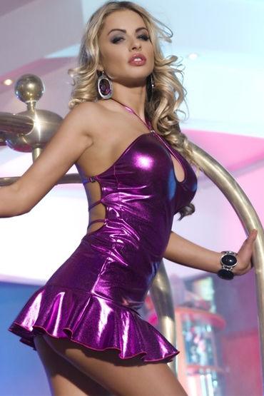 Candy Girl платье, фиолетовое С открытой спинкой сорочка и стринги maresol xxl 3xl
