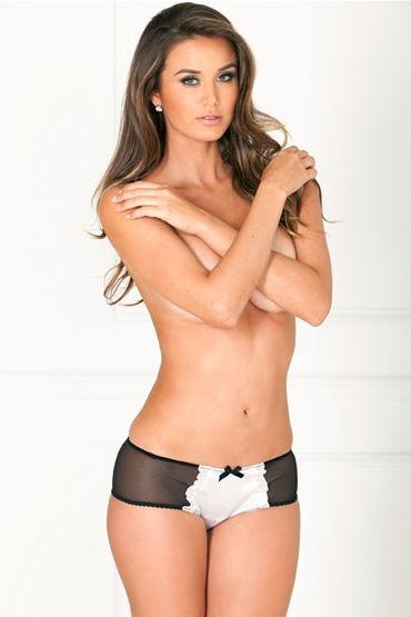 Rene Rofe шортики, черно-белые С атласной вставкой model rene rofe