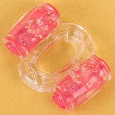 Toyfa кольцо, прозрачное С вибрацией shunga massage candle 170мл массажная свеча пьянящий шоколад