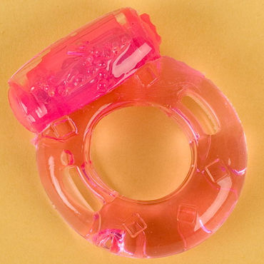 Toyfa кольцо, розовое С вибрацией волшебная елочка triple play с блестками