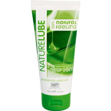 Hot NatureLube, 100 мл Лубрикант на водной основе с Алоэ Вера фаллоимитатор classic dong white 10