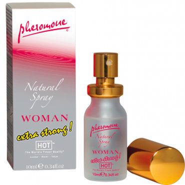 Hot Woman Natural Spray Extra Strong, 10 мл Духи-спрей для женщин с феромонами hot naturale spray woman intense 5мл спрей с феромонами женский
