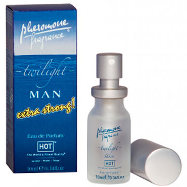 Hot Man Twilight Extra Strong, 10 мл Духи-спрей для мужчин с феромонами shiatsu pheromone man 25мл духи с феромонами для мужчин
