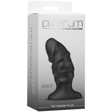 Doc Johnson Platinum Raging Plug, черный Анальный плаг baile фаллоимитатор реалистик телесный с набухшими венками