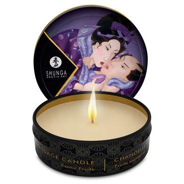 Shunga Massage Candle Exotic Fruits, 30мл Массажная свеча, экзотические фрукты shunga massage candle vanilla fetish 30мл массажная свеча ванильный фетиш