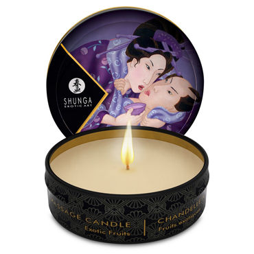 Shunga Massage Candle Exotic Fruits, 30мл Массажная свеча, экзотические фрукты shunga massage candle 30мл жен