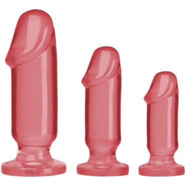 Doc Johnson Anal Starter Kit, розовые Набор анальных фаллоимитаторов doc johnson wendy williams розовый набор из трех анальных пробок