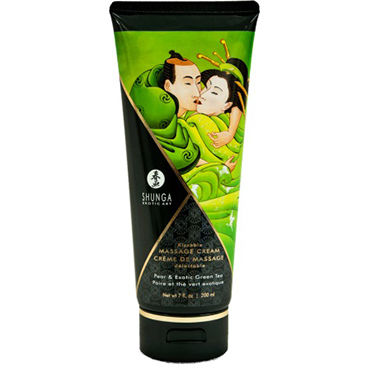 Shunga Kissable Massage Cream Pear & Exotic Green Tea, 200 мл