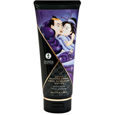 Shunga Kissable Massage Cream Exotic Fruits, 200 мл Съедобный массажный крем с ароматом экзотических фруктов shunga kissable massage cream pear