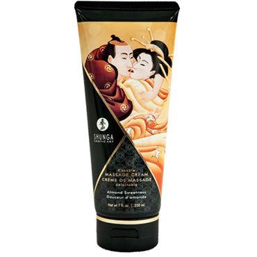 Shunga Kissable Massage Cream Almond Sweetness, 200 мл Съедобный массажный крем с ароматом миндаля shunga lovebath фрукты дракона 650 гр гель для ванны