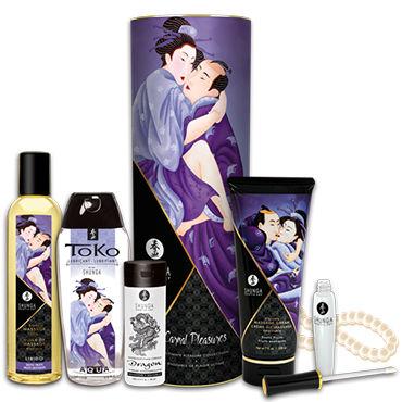 Shunga Carnal Pleasures Подарочный набор Плотские удовольствия из 6 предметов масло интимное массажное shunga экзотические фрукты 100 мл