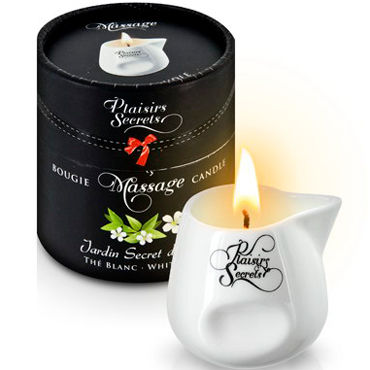 Plaisirs Secrets Massage Candle White Tea, 80мл Свеча массажная Белый чай masculan massage gel