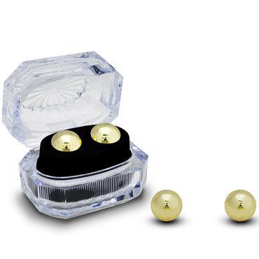 Gopaldas Вагинальные шарики, золотистые Утяжеленные в коробочке twilight intense женские духи с феромонами 5 мл
