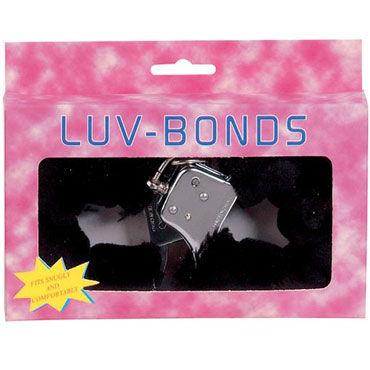 Gopaldas Luv-Bonds, черные Наручники с мехом лучшие смазки для секса с кольцами